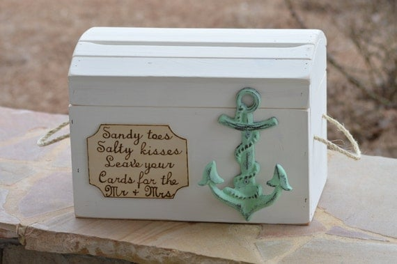 beach wedding card box anchor wedding reception card box nautical wedding