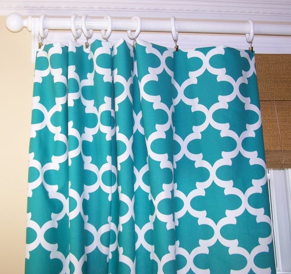 Turquoise Curtains Premier Prints Fabric Custom Drapery Panels