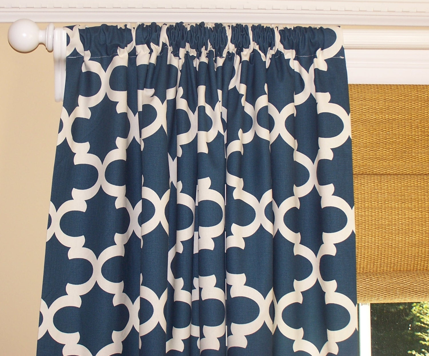 Navy Curtains Dark Blue Curtains Moroccan Dark Blue