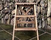 Vintage-Style Functional Wooden Step Ladder