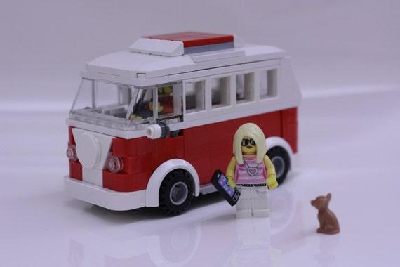 items similar to custom lego volkswagen camper van t1 camper only on etsy. Black Bedroom Furniture Sets. Home Design Ideas