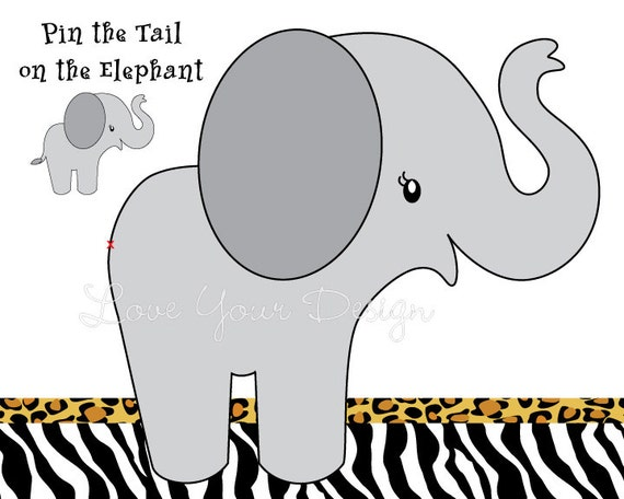 Elephant Game For Birthday Party Pin The Tail On The