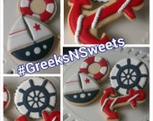 Nautical Themed cookies (Sailor/Baby Shower) ... GREEKS-N-SWEETS