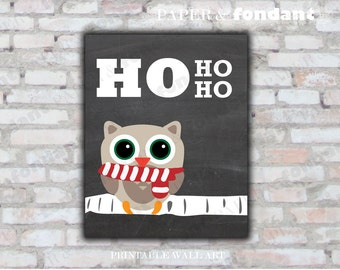 INSTANT DOWNLOAD - PRINTABLE Holiday Poster - 8x10 Holiday tree with lights - Ho Ho Ho