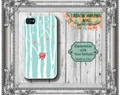 Love Birds iPhone Case, Personalized iPhone Case, Fits iPhone 4, iPhone 4s, iPhone 5,  iPhone 5s, iPhone 5c, iPhone 6, Plastic iPhone Case