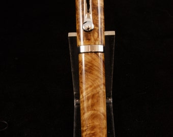 Black Ash Burl Atrax Fountain Pen