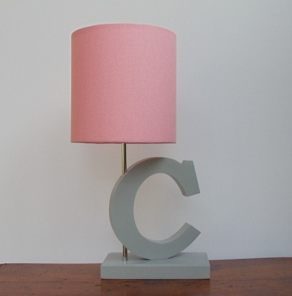 small pink drum lamp shade nursery or girl 39 s lamp shade. Black Bedroom Furniture Sets. Home Design Ideas