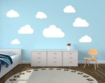 Cloud Wall Decals Clouds Nursery Wall Decal Set Of 8 Clouds Wall Decal - Childrens Room Decor Kids Room Teen Room Vinyl Wall Decal Clouds