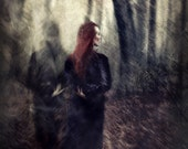 "Title: ""The Forgotten One"".  Woman in woods with a ghostly image. - SpokeninRed"