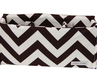 Black Chevron, Removable MEDIUM padded camera insert