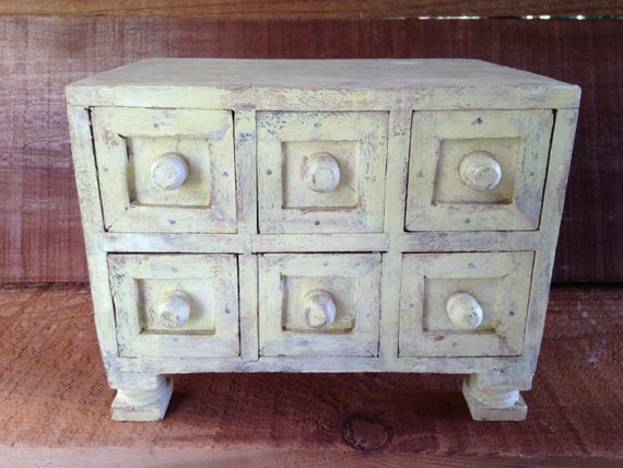 secret drawer jewelry box handmade in india distressed