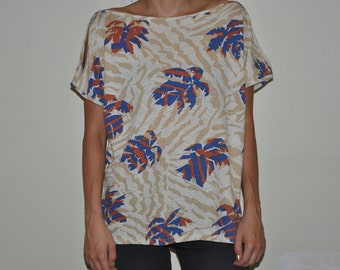 Hawaii Cutout Shoulder T-Shirt Hipster Clubkid Grunge