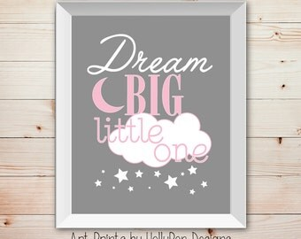 Pink Gray Nursery Etsy - Pink and grey nursery decor