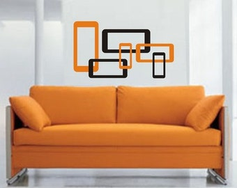 Modern Squares  Decal Sticker Wall