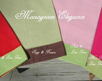 Monogrammed Linen Hand Towel
