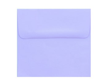 25  5.5 x 5.5   Premium Pastel Purple Square-Flap Envelope - 5 1/2 x 5 1/2