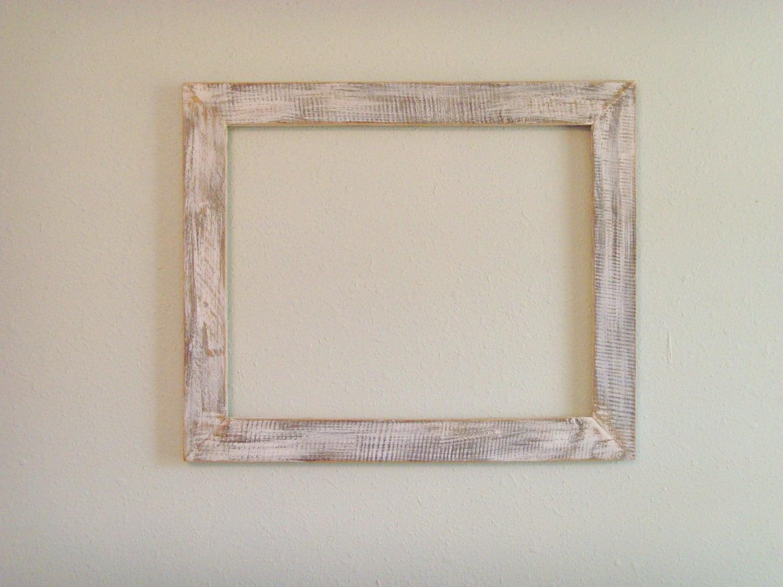 16 x 20 distressed white frame reclaimed by beamsboardsbarns. Black Bedroom Furniture Sets. Home Design Ideas