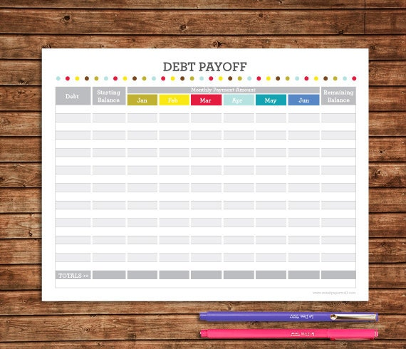 Finance Binder PDF Printable Pages INSTANT By SweetPaperTrail