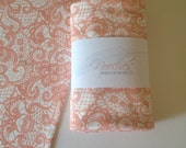 Coral Lace Organic Swaddling Blanket