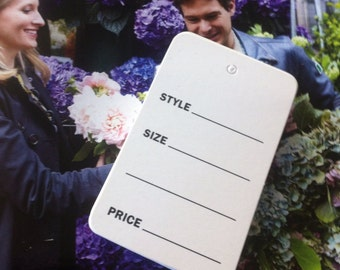 43 Sales tags  /  shop supplies  / Style, sizes , prices tags