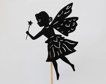 Princess Fairy Shadow Puppet - Hand cut