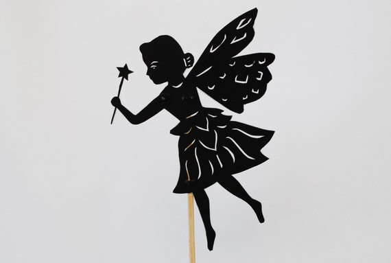 Princess fairy shadow puppet hand cut like this item pronofoot35fo Gallery