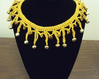 Gold Bell and Bead Choker