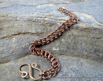 Bronze Chain Bracelet ~ Half Persian Chain Maille Weave