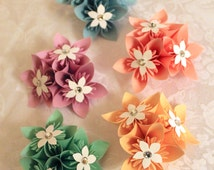 Pastel Origami Boutonnieres