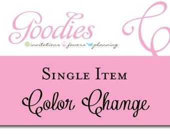 Color Change of Single Item