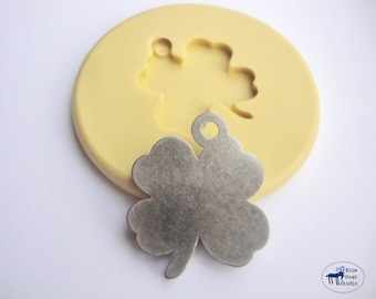Four Leaf Clover Mold  - Silicone Mold - Lucky Charm - Polymer Clay Resin Fondant