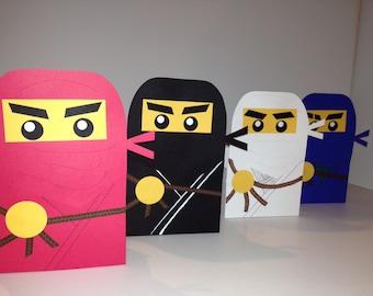 Handmade bags inspired by Ninjago, masters of spinjitzu