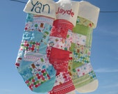 Baby's 1st Christmas - Personalized Christmas Stockings - quilted Christmas Stocking with Patchwork and Handembroidered - Baby Stocking