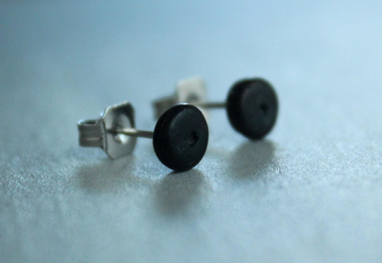 black stud earrings 5mm earring mens by