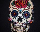 Large 3 in Dia De Los Muertos Day Of the Dead Sugar Skull Necklace Calavera/Cantina