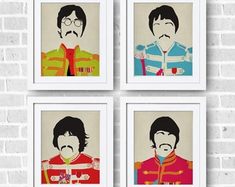 The Beatles Sgt. Peppers Set 8x10 Print - The Beatles