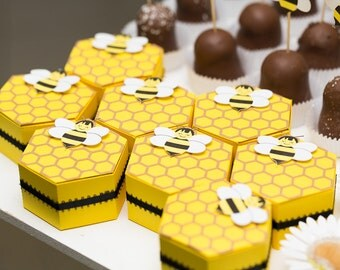 Bumble Bee Hive Favor boxes (set of 4)