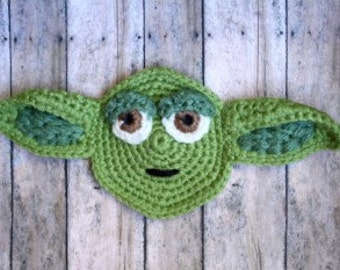 Yoda Crochet Applique Pattern