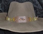 Hatband, Cowboy style! Amber Colour #1