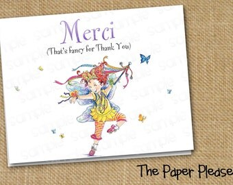 Fancy Nancy Thank You Cards