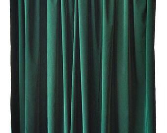 Green Curtain Panels Etsy
