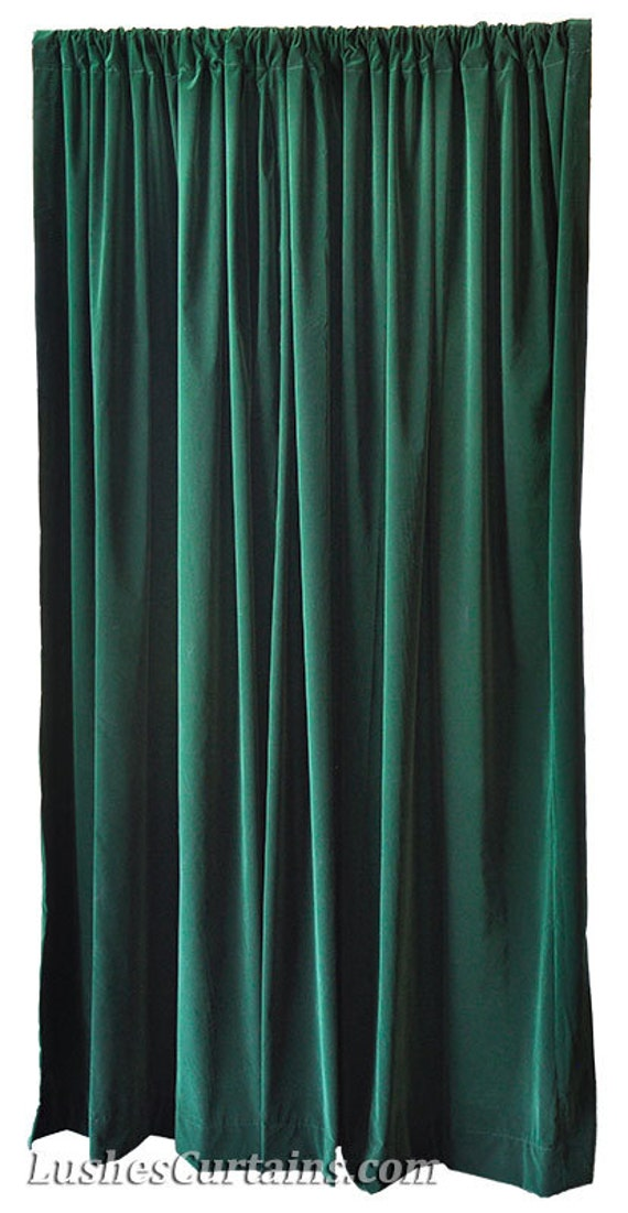 green velvet 96 inch curtain long panel custom made home movie. Black Bedroom Furniture Sets. Home Design Ideas