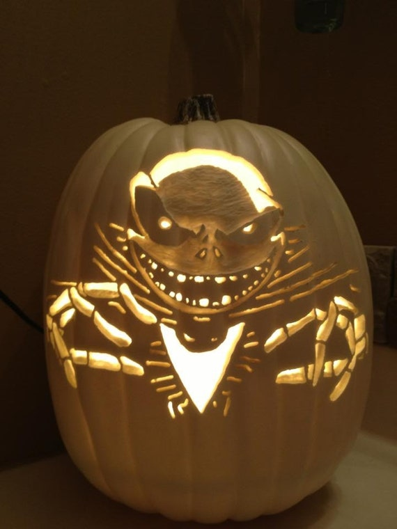 Items similar to nightmare before christmas foam pumpkin for Pumpkin eating pumpkin stencil