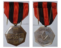 France French WW2 Military Medal Campaign Netherlands Holland 1940 Decoration Award West Front 1939 1945 War vs Germany
