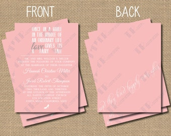 Fairy Tale Wedding Invitation Package