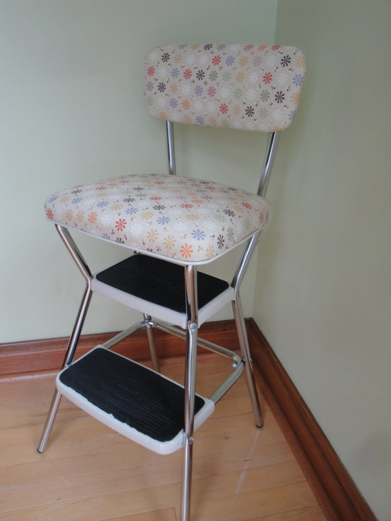 Vintage Restored Cosco Kitchen Utility Step Stool By