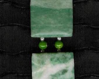 Bracelet - Misty Mountain Jasper, Aventurine, Sea Sediment Jasper, Sterling Silver Bracelet