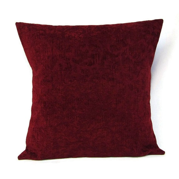 Throw Pillows For Burgundy Couch : Sale Burgundy Pillow Cover Home Decor Decorative Throw Toss