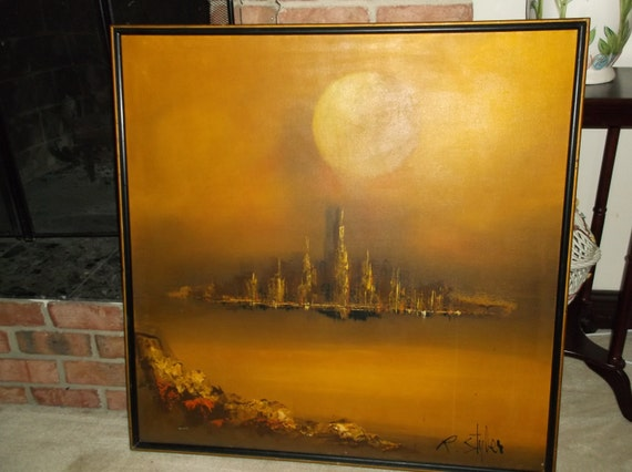 Reserved A Midcentury Modern Eames Era Oil Painting R Styles