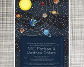 Space Invitations - Printable - Planets and Stars